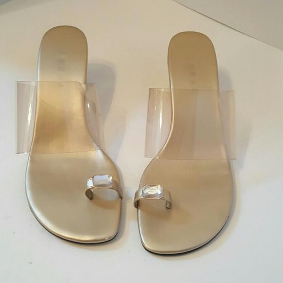 7c235e59289 Lorel Toe Ring Clear Transparent Mules sz8.5Sandal